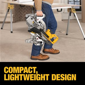 DEWALT 7 1/4-in 20-Volt Cordless Sliding Compound Mitre Saw (Tool Only) (DCS361B)