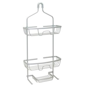 Zenna Home 22.5-in H Aluminum Hanging Shower Caddy