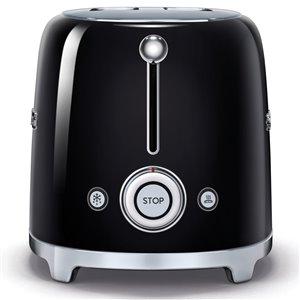 SMEG 2-Slice Black Toaster