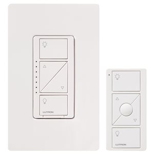 Lutron Caseta 150-Watt White 3-Way CFL/LED Wireless Digital Dimmer with Remote Control