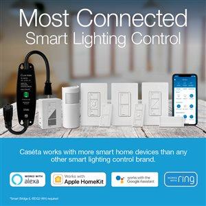 Lutron Caseta 100-Watt White 3-Way CFL/LED Wireless Digital Dimmer with Remote Control