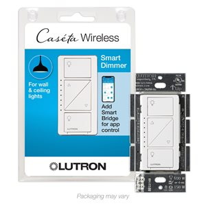 Lutron Caseta 600-Watt White 3-Way Compatible CFL/LED Compatible Wireless Digital Dimmer