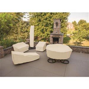 elemental Tan Conversation Chair Cover