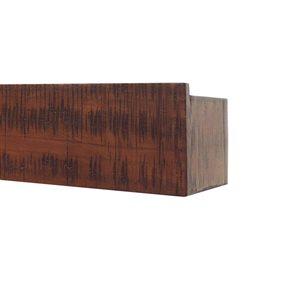 allen + roth 36-in Mahogany Rustic Block Ledge Wall Shelf