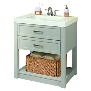 Style Selections Annabeth 30-in Single Sink Cool Gray Bathroom Vanity With Cultured Marble Top