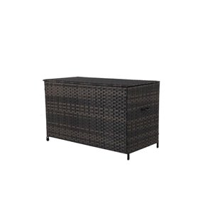 190-gal Brown Wicker Deck Box