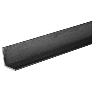 Hillman 1-1/4-in W x 1-1/4-in H x 4-ft L Plain Hot Rolled Steel Solid Angle