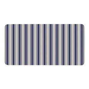 Multy Home 20-in x 39-in Ledory White/Blue Stripe Mat