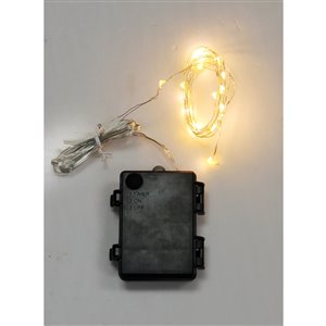 30-Count Warm White Silver Outdoor String Lights