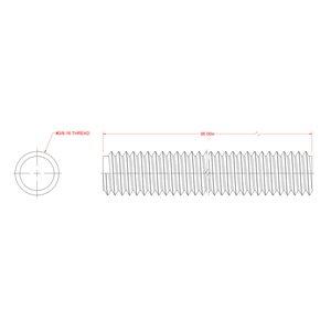 Hillman 3/8-in dia x 3-ft L Coarse Steel Threaded Rod