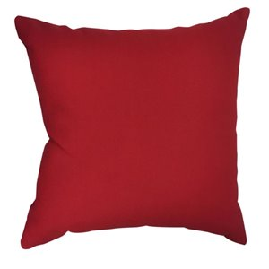 Garden Treasures 16-in Solid Red Polyester Toss Pillow