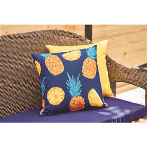 Garden Treasures 16-in Solid Yellow Polyester Toss Pillow