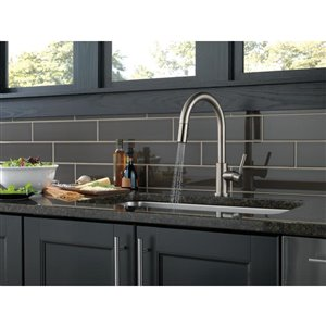 DELTA Trask Single Handle Kitchen Faucet (Stainless Steel)