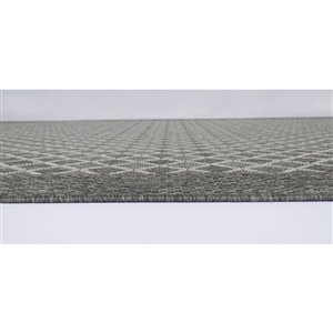 5-ft x 7-ft Grey Patterned Outdoor Area Rug