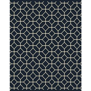 Balta 8-ft x 10-ft Navy Geometric Outdoor Rug (Actual Size: 7-ft 8-in x 10-ft)