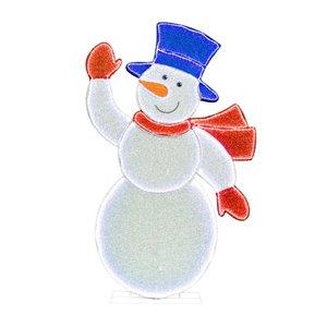 4-ft Multicolour LED Freestanding Snowman