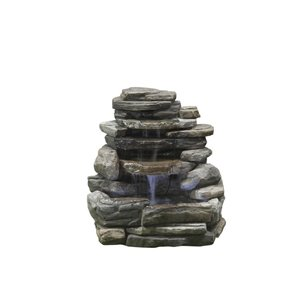 Garden Treasures Rock Wall Fountain with 2 LED lights