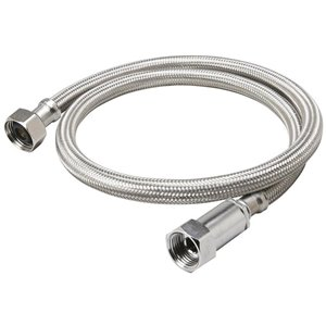 1/2-in x 3/8-in Dia x 20-in Braided Stainless Steel Compression Faucet Supply Line