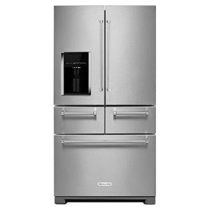 KitchenAid 25.8-cu ft 5-Door French Door Refrigerators Single Ice Maker (Stainless Steel)