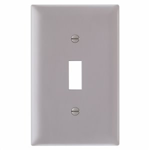 Legrand 1-Gang Grey Standard Duplex Receptacle Nylon Wall Plate