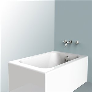 Jacuzzi Fraser Polished Chrome 2-Handle Widespread Bathroom Sink Faucet (Valve Included)
