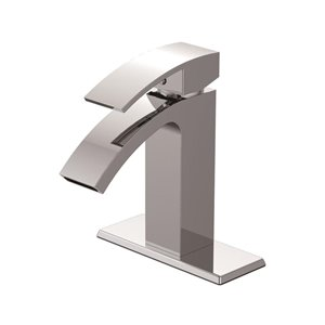Jacuzzi Nass Chrome 1-Handle Single Hole WaterSense Bathroom Sink Faucet with Drain (Valve Included)