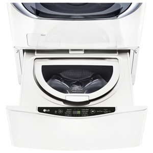 LG 27-in 1.1-cu ft High-Efficiency Pedestal Washer (White)