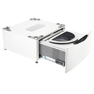 LG 27-in 1.1-cu ft High-Efficiency Pedestal Washer (White)