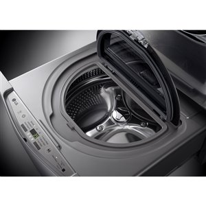 LG 27-in 1.1-cu ft High-Efficiency Pedestal Washer (Graphite Steel)