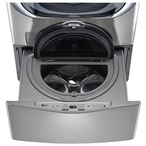 LG 29-in 1.1-cu ft High-Efficiency Pedestal Washer (Graphite Steel)