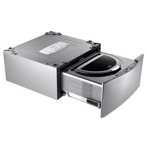LG 29-in 1.1-cu ft High-Efficiency Pedestal Washer (Graphite Steel)