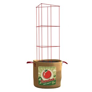 Growing Bag with Support Tower for Tomatoes