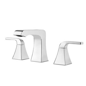 Pfister Vorena Polished Chrome 2-Handle Widespread WaterSense Bathroom Sink Faucet with Drain (Valve Included)
