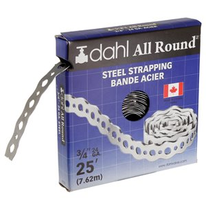 Dahl 3/4-in x 25-ft 24-Gauge Steel All Round Strapping/Pipe Hanger