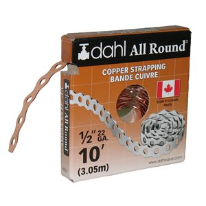 1/2-in x 10-ft Copper 22 Gauge All Round Strapping/Pipe Hanger