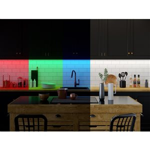 Good Earth Lighting LED 144.0-in Plug-in Tape Under Cabinet Light