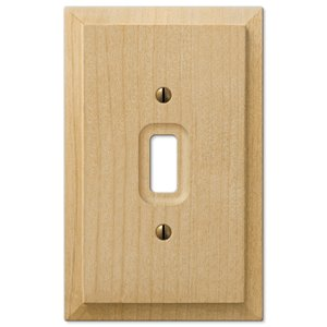 Amerelle Baker 1-Gang Toggle Wall Plate (Wood)