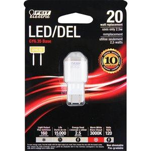 Feit Electric 2.5-Watt/160 Lumens G6.35 Base Wedge LED Light Bulb (1-Pack)