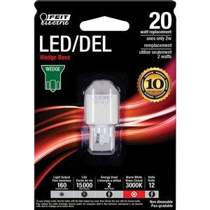 Feit Electric 2-Watt /160 Lumens Wedge Wedge LED Light Bulb (1-Pack)