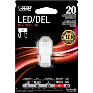 Feit Electric 2-Watt /160 Lumens G9 Pin Base Wedge LED Light Bulb (1-Pack)