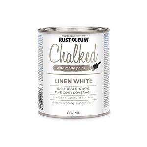 Rust-Oleum Chalked Ultra-Matte Paint Latex 887 ml Linen White