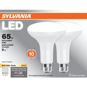 SYLVANIA 9-Watt /650 Lumens Medium Base (E-26) Dimmable LED Light Bulb (2-Pack)