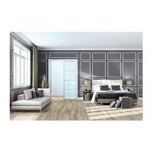 American Olean Muirwood 6-in x 36-in Earthy Gray Porcelain Floor and Wall Tile