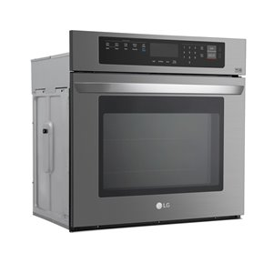 LG 30-in Self-Cleaning Single Electric Wall Oven (Fingerprint-Resistant Black Stainless Steel)
