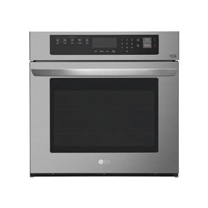 LG 30-in Convection Single Electric Wall Oven (Black Stainless Steel)