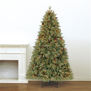 Holiday Living 7.5-ft Hayden Pine Incandescent Artificial Christmas Tree