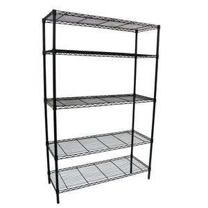 Style Selections 72-in H x 47.7-in W x 18-in D 4-Tier Steel Freestanding Shelving Unit