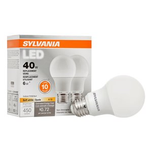 SYLVANIA 6-Watt/450 Lumens Medium Base (E-26) A19 LED Light Bulb (1-Pack)