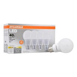 SYLVANIA 6-Watt/450 Lumens Medium Base (E-26) A19 LED Light Bulb (1-Pack)