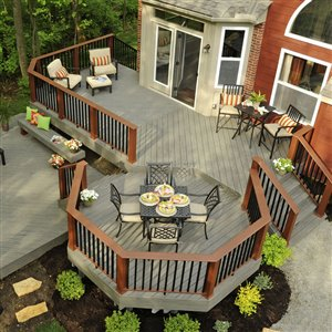 TimberTech 1-in x 6-in x 16-ft Silver Maple Terrain Composite Decking